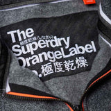 Superdry Orange Label Urban Zip Hoodie - Anvil Charcoal Grindle - so-ldn