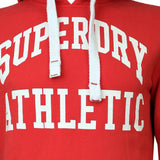 Superdry Mens Tigers Athletic Hoodie Indiana-Red - so-ldn