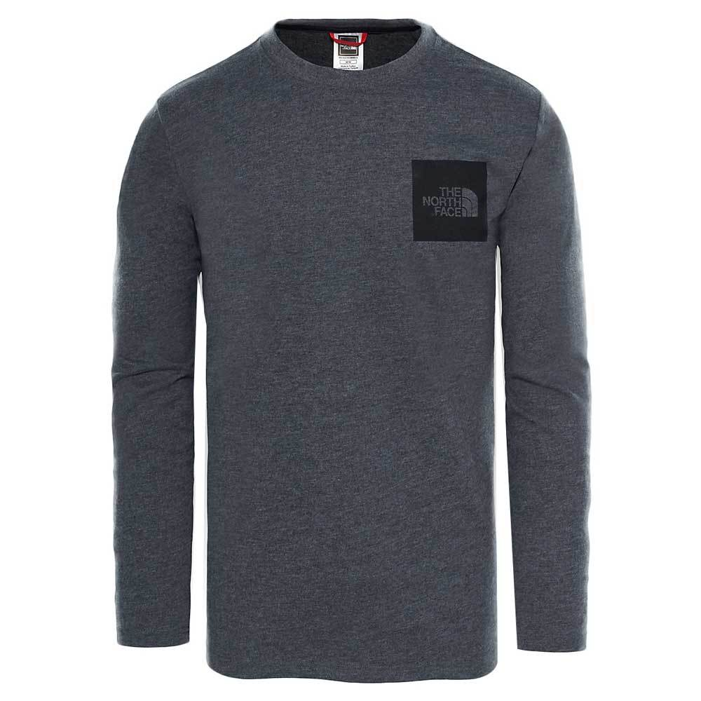 The North Face Black Label L/S Fine T-Shirt - Dark Grey Heather - so-ldn