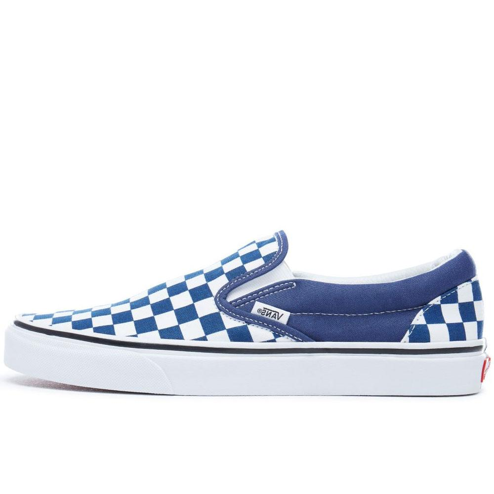 Vans Classic Slip On Checkerboard Embossed - Blue - so-ldn