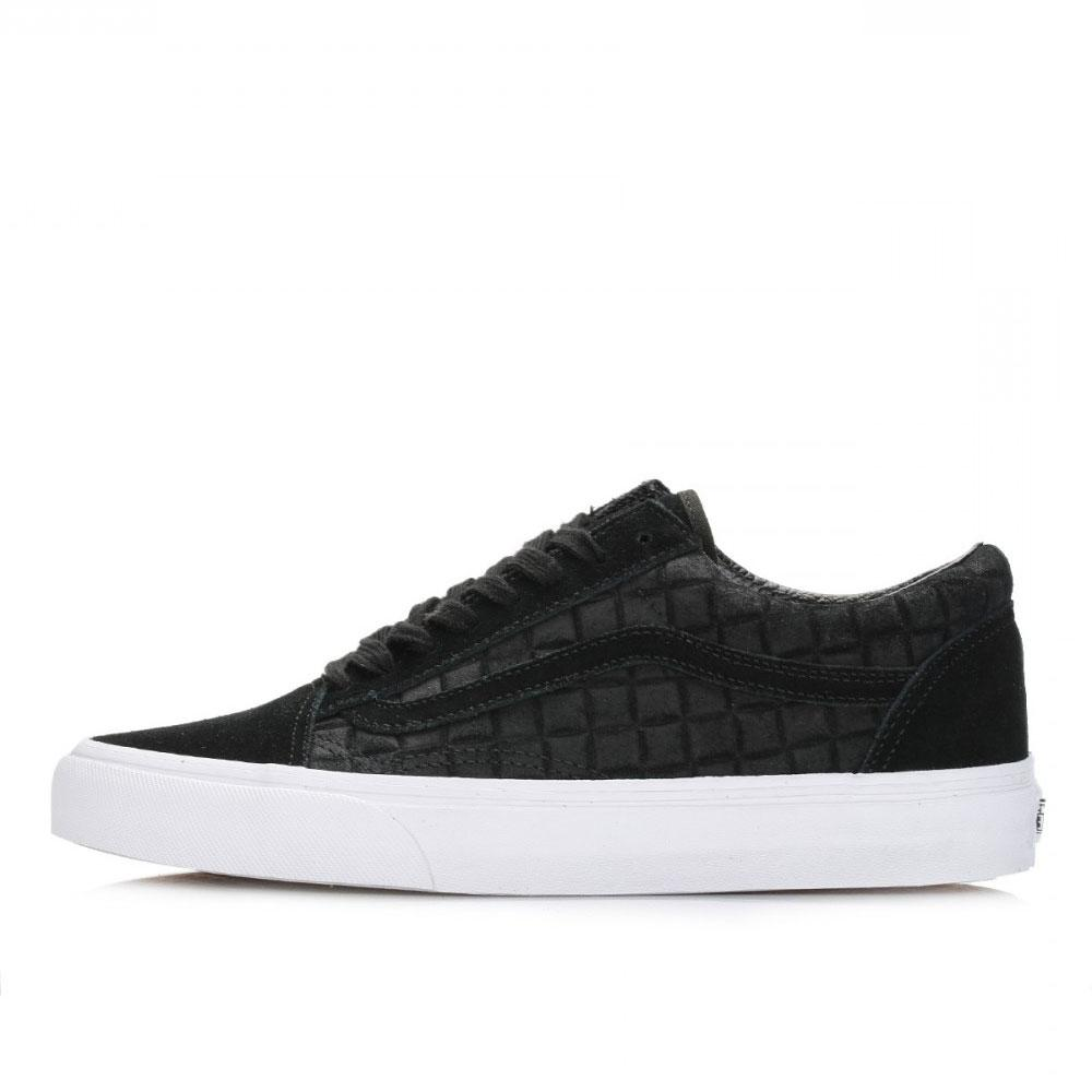 Vans Mens Old Skool Trainers - Black Suede Checkers - so-ldn