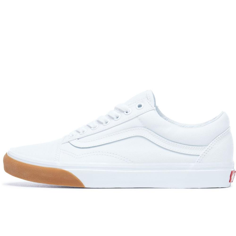 Vans Old Skool Gum Bumper Trainers - White - so-ldn