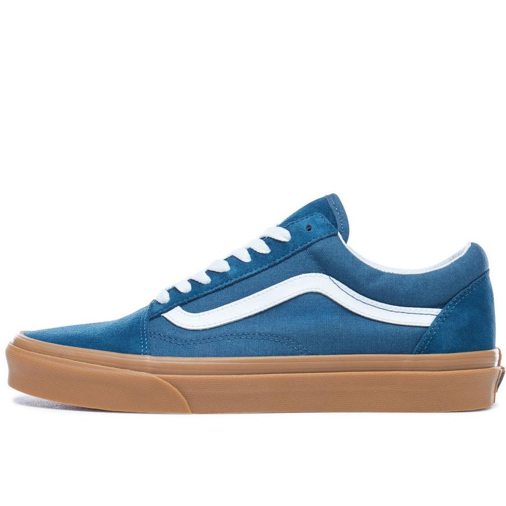 Vans Old Skool Trainers - Navy Reflecting Pond Gum - so-ldn