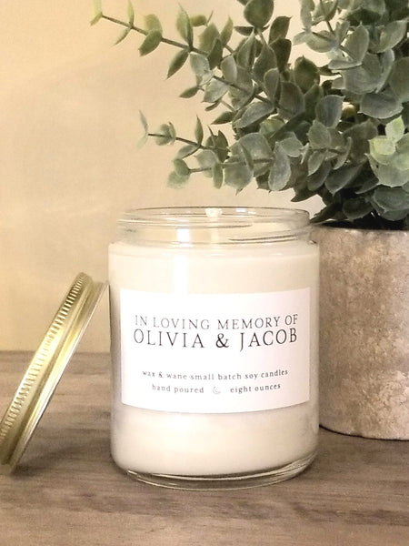The Olivia & Jacob Candle