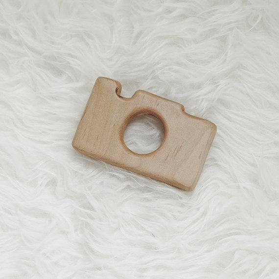 Wood Camera Teether