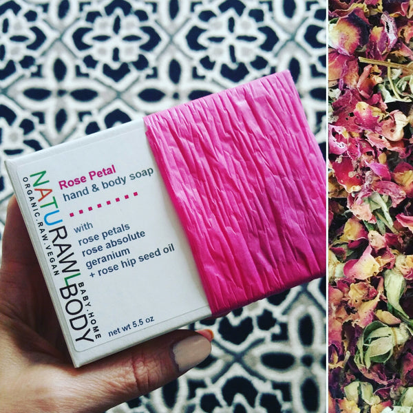 Moisturizing Plant-based Hand + Body Bar Soap / Rose Petal