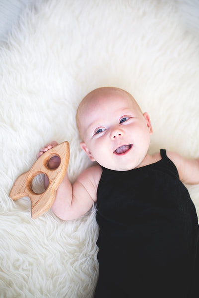 Wood Rocket Teether