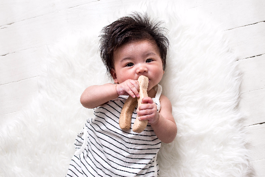 Wood Wishbone Teether