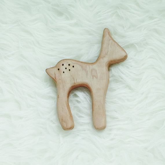 Wood Deer Teether