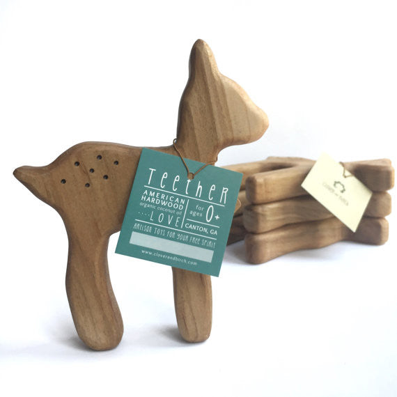 Wooden Teether Toy - Deer
