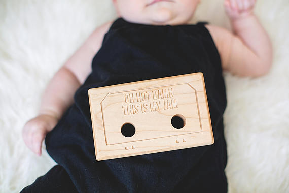 Wood Mixed Tape Teether