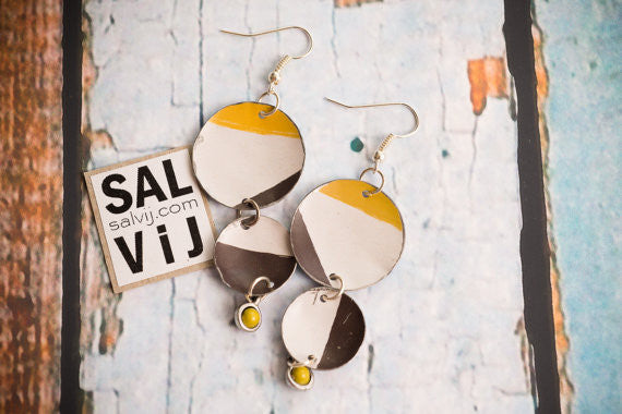 Sal'vij - Handcrafted Repurposed Drop Earrings