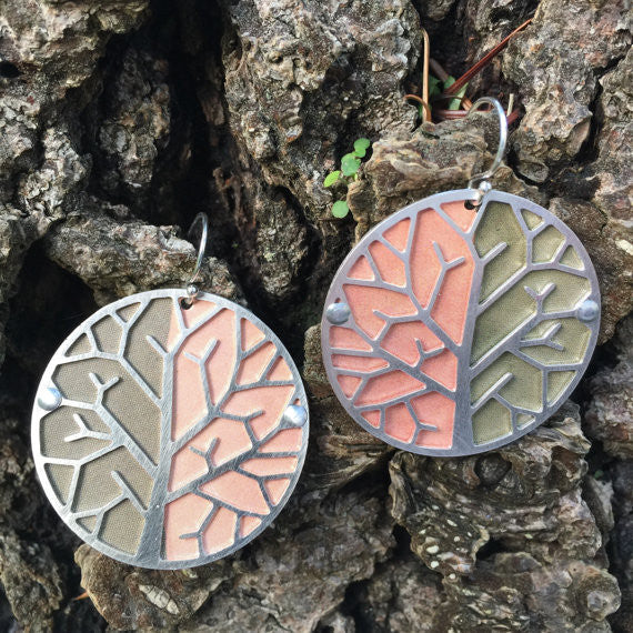 Sal'vij - Handcrafted Repurposed Tree Earrings