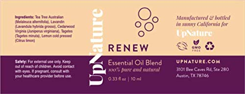 Renew Essential Oils For Skin Blend - Skin & Nail Fungus Treatment With Super Concentrated Blend Of 100% Tea Tree Essential Oil, Lavender, Cedarwood - For Natural Shampoo, Natural Body Wash, Foot Soak