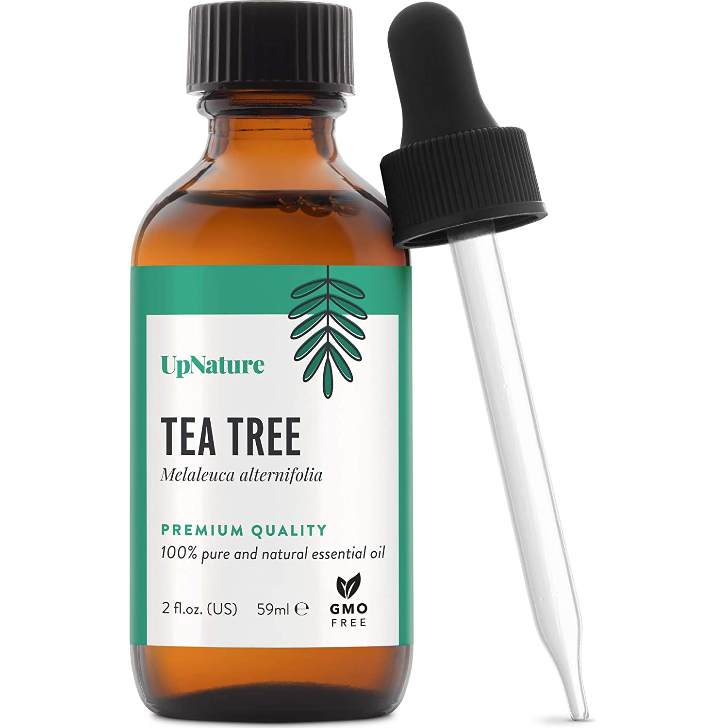 Tea Tree Essential Oil 2 OZ – Pure Tea Tree Oil, Therapeutic Grade, Undiluted, Non-GMO – Hair Skin Body Care, Natural Face Scalp Cleanser, Aromatherapy with Dropper