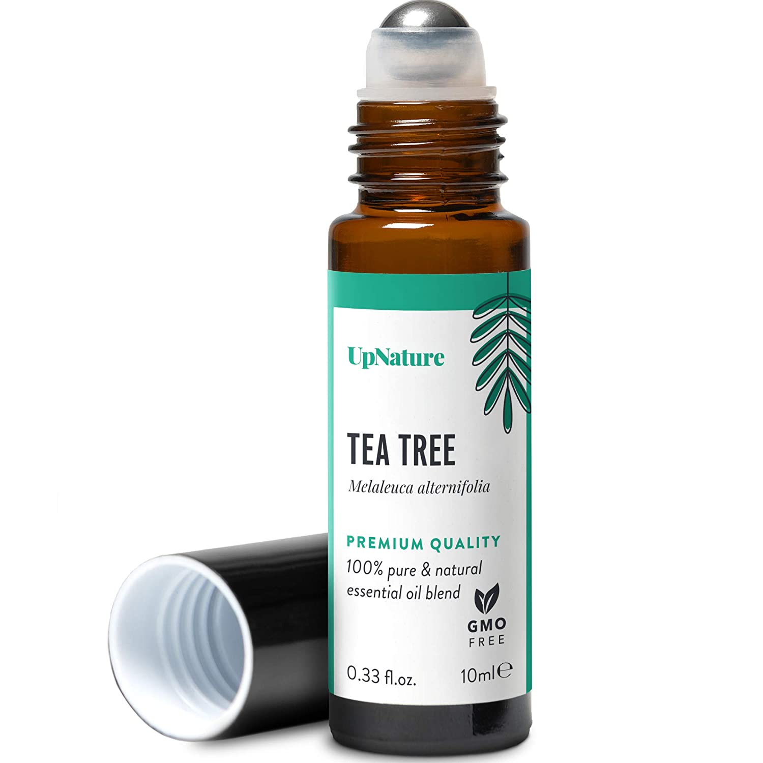 Tea Tree Oil Roll-On - Tea Tree Essential Oil Rollerball - Facial Oil for Clear Skin, Healthy Toenail - Aromatherapy, Therapeutic Grade, Pre-Diluted, Non-GMO