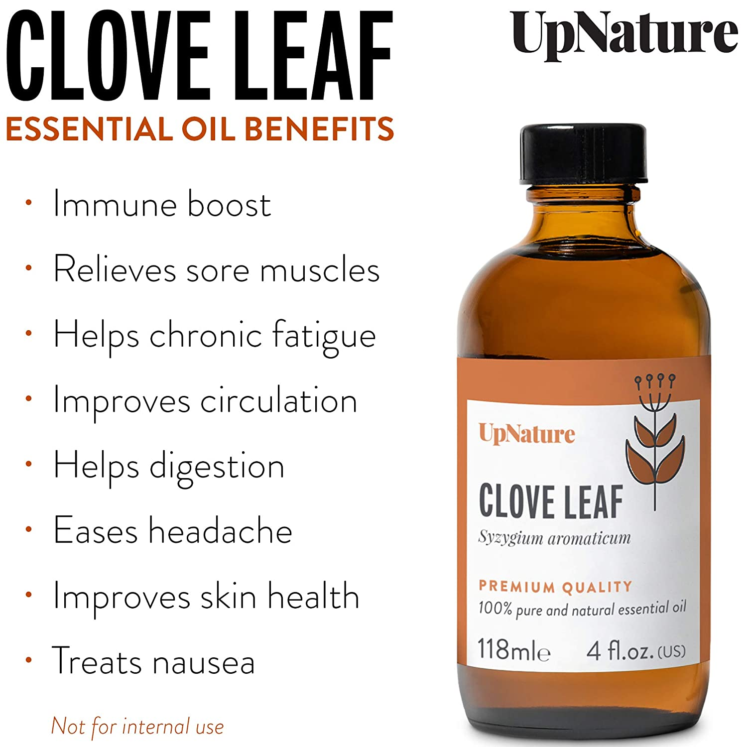 Clove Oil Essential Oil 4oz – Pure Clove Essential Oil - Relief & Promotes Healthy Gums, Clove Oil for Tooth Aches, Fight Candida, Soothe Headaches – Undiluted, Unfiltered, Non-GMO & Therapeutic Grade