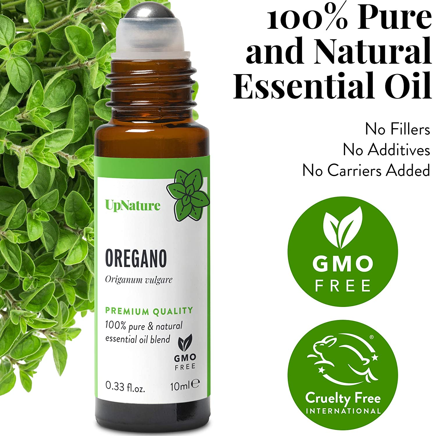 UpNature Oregano Essential Oil Roll-On - Respiratory Relief for Congestion, Pre-Diluted