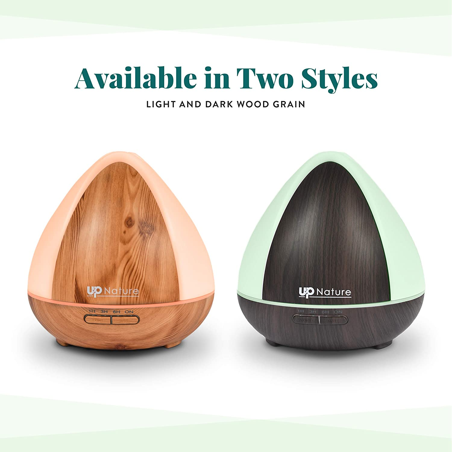 Cool Mist Humidifier Essential Oil Light Wood Grain Diffuser (300ml)