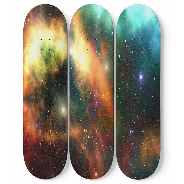 Universe Skateboard Wall Art Outer Space Galaxy Stars Modern Design Interior Room Decoration Home Gift