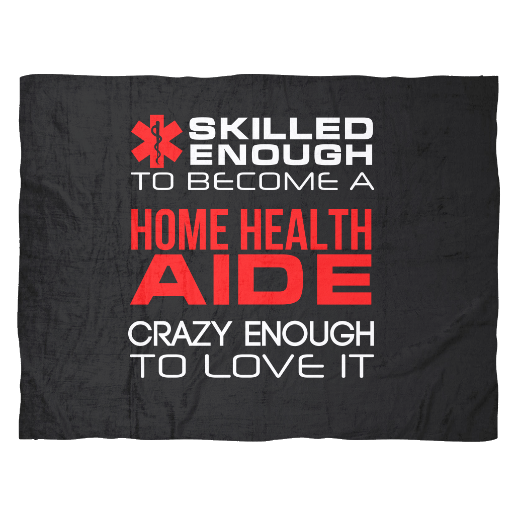 Funny Home Health Aides Gifts Fleece Blanket