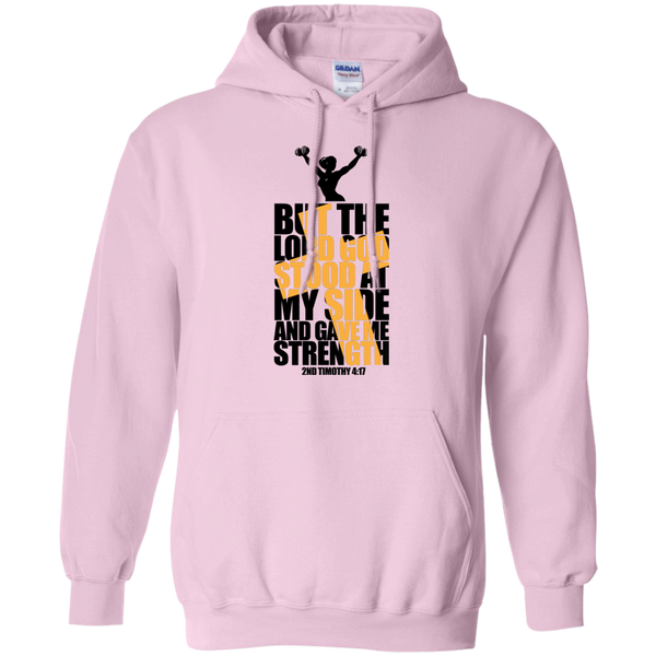 Lord at My Side Gave me Strength | Christian Workout gift hoodie