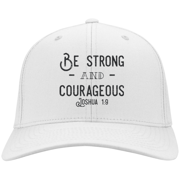 Be Strong & Courageous | Joshua 1:9 Christian | Christian Hat