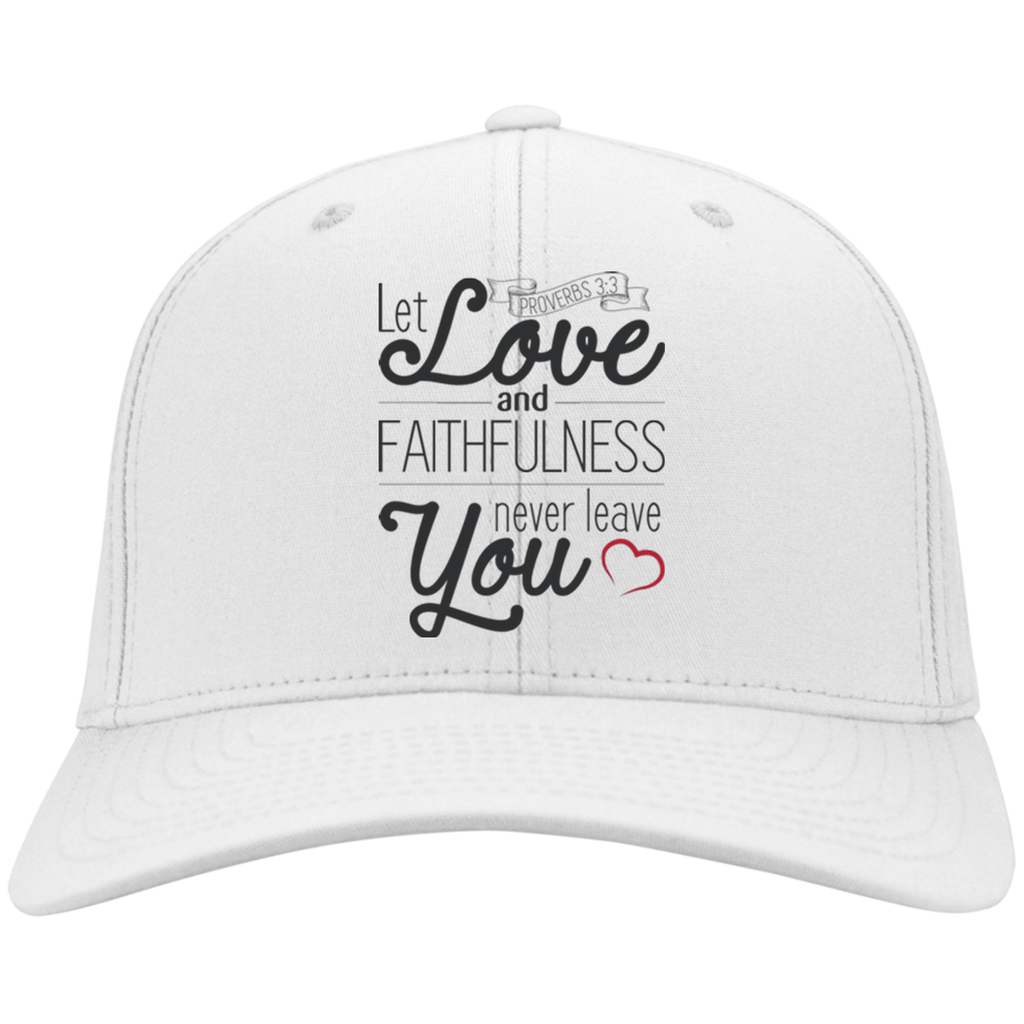 Let Love and Faithfulness Never Leave You| Proverbs 3:3 Christian Gift Hat