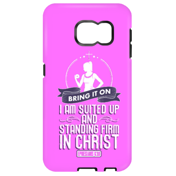 Standing Firm in Christ Workout Mobile Phone Case