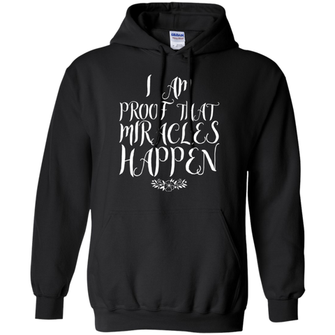 I Am Proof that Miracles Happen Cool Christian Hoodie Ladies