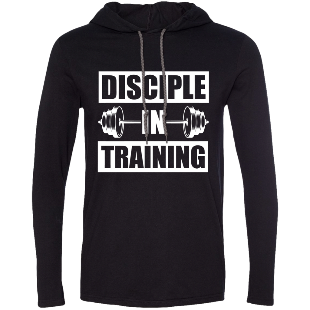Disciple in Training Christian Weightlifting  Tshirt Hoodie Mens