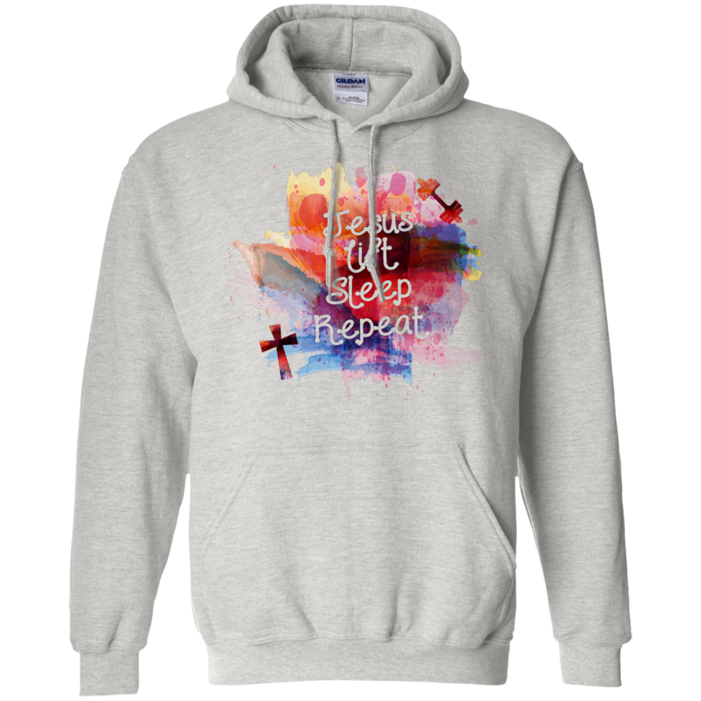 Jesus Lift Sleep Repeat | Exercise Christian Workout Hoodie