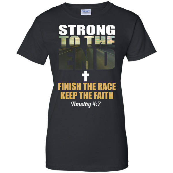 Strong to the End Christian Workout Shirt