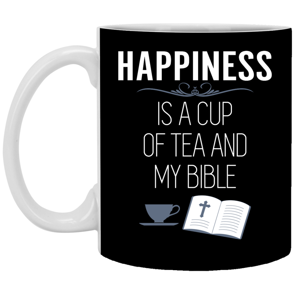 Happiness is a Cup of Tea and My Bible Mug