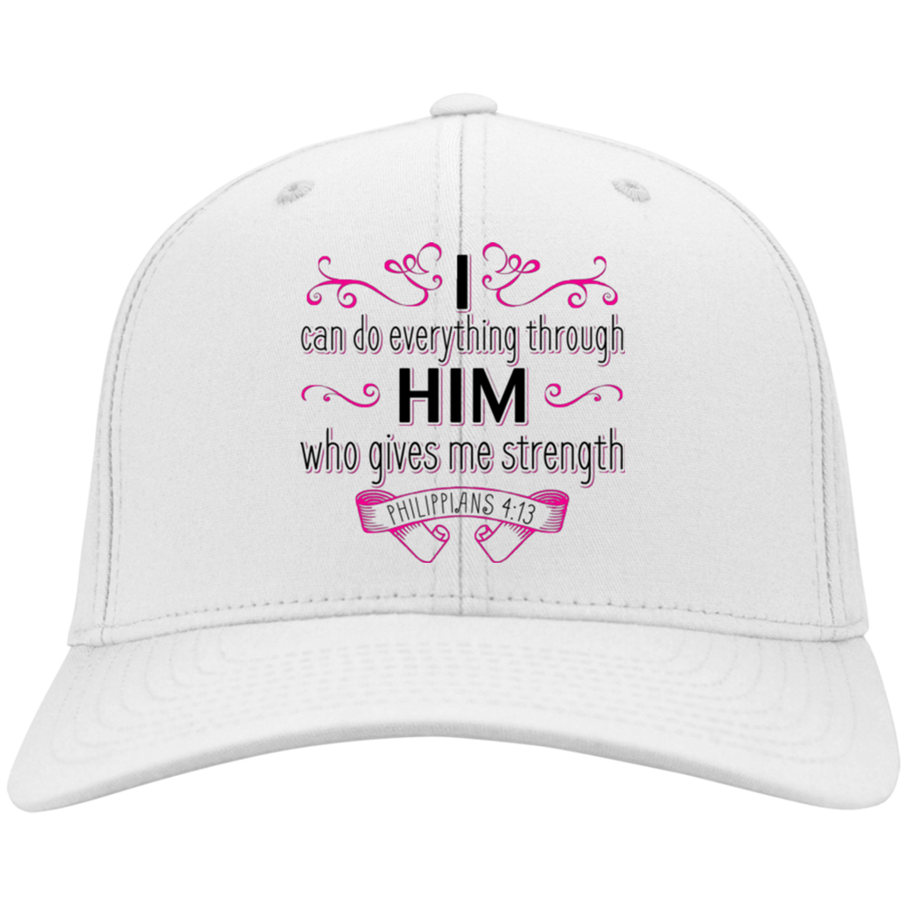 I Can Do Everything Through Him | Philippians 4:13 Bible Verse Cap | Hat