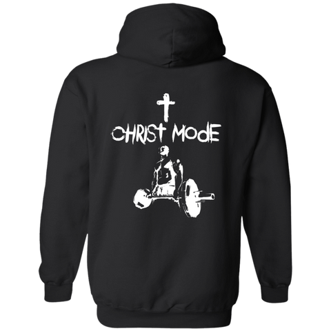Christ Mode |Christian Fitness Workout Hoodie Back Print