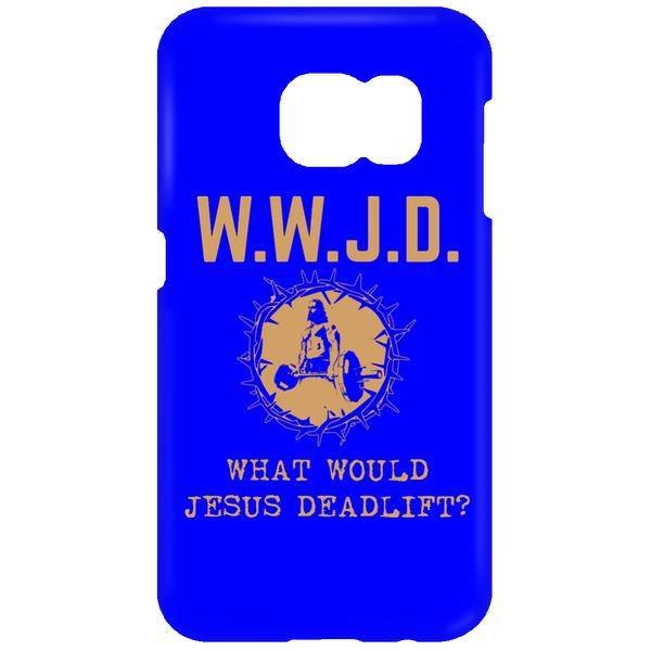 What Would Jesus Deadlift Mens Mobile Phone Case