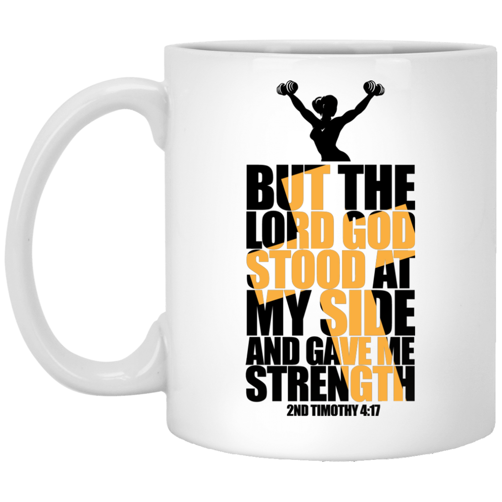 Lord at My Side Gave me Strength | Christian Workout Gift Mug