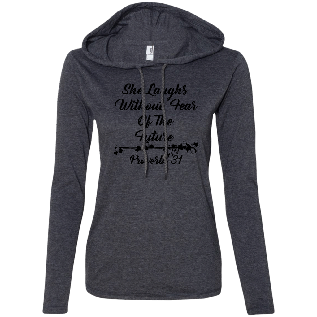 Proverbs 31 Woman - She Laughs without Fear - Christian Woman Gift | Tshirt Thin Hoodie