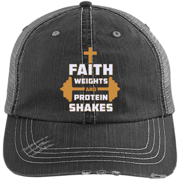 Faith Weights and Protein Shakes Hats