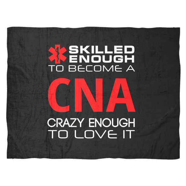 Funny CNA Gifts Week Men Women Fleece Blanket Throw