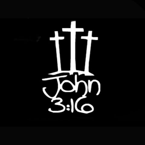 John 3:16 Car Window Sticker