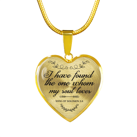 Christian Bible Verse 18k Gold Heart Necklace Luxury Gift