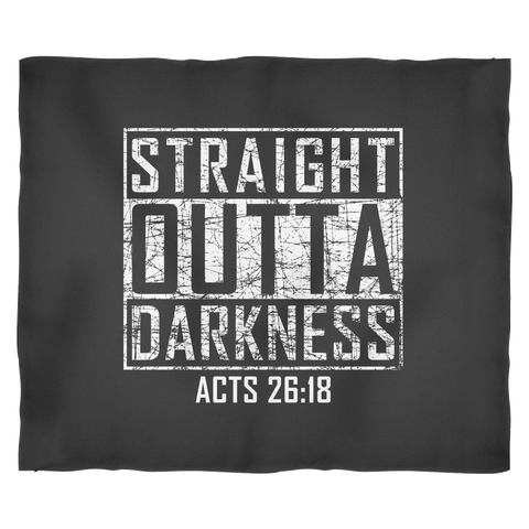 Straight Outta Darkness | Funny Christian Gift Fleece Blanket