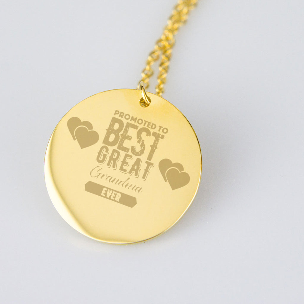 Great Grandma 18K Gold Engraved Necklace New Promoted