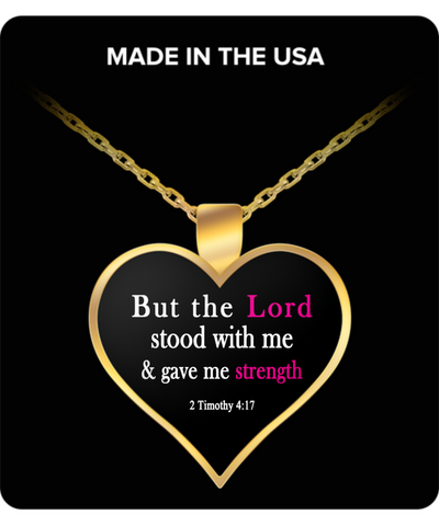 Lord Gave Me Strength Gold Plated Necklace