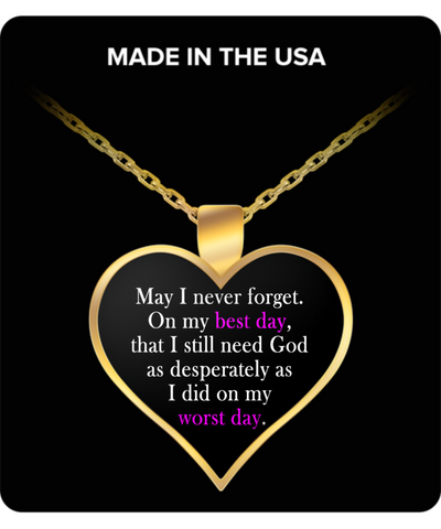 I Need God Christian Gold Plated Necklace