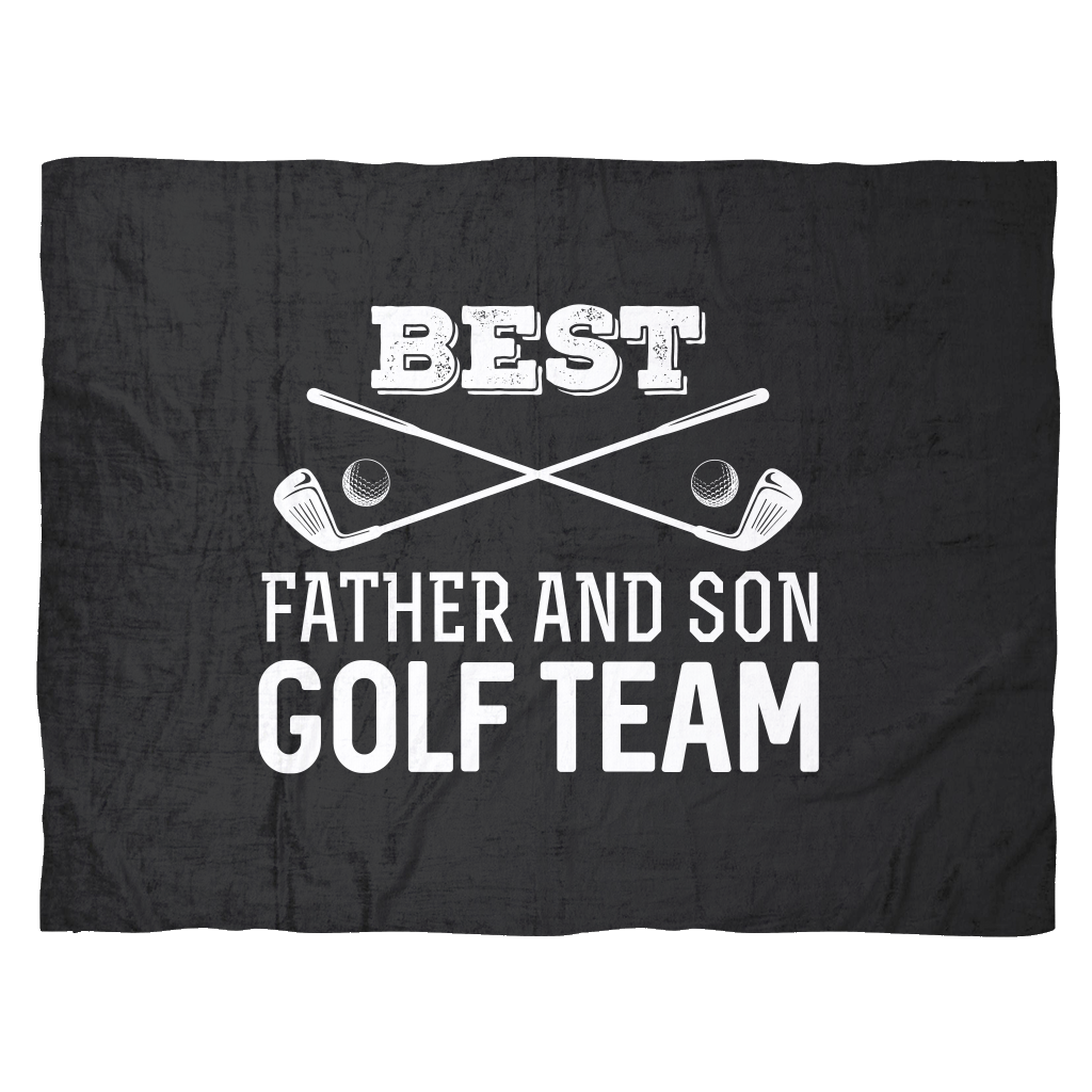 Funny Golf Fleece Blanket Gift | Best Father & son Golf Team