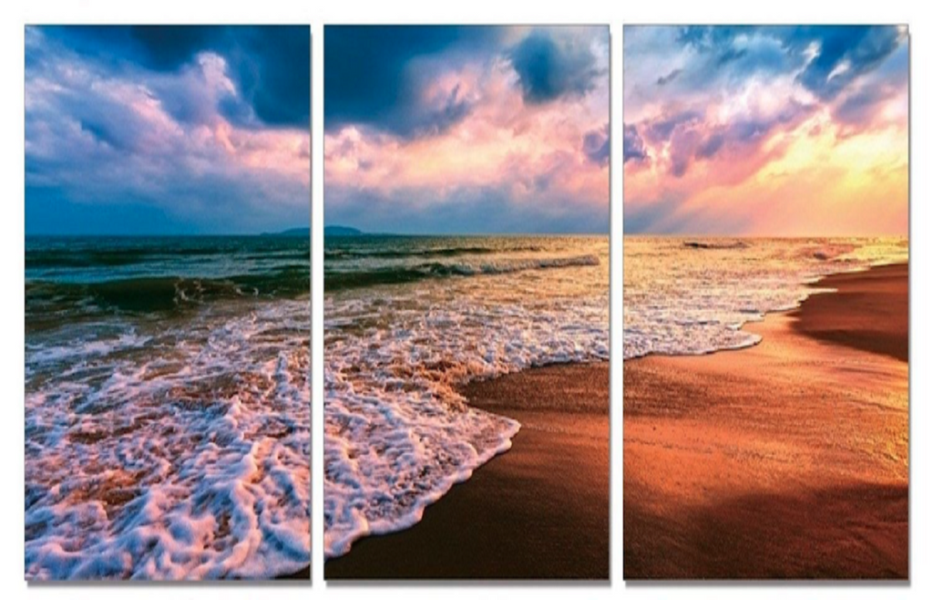 Heavenly Beaches and Stunning Sky Canvas Panels