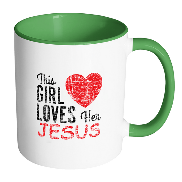This Girl Loves Her Jesus | Cool Christian mug | | coffee or tea cup